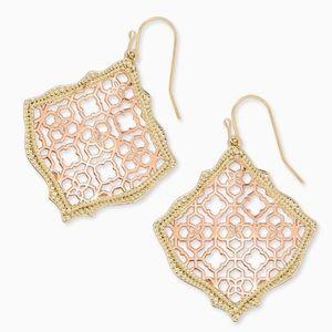 Kendra Scott Kristen Filigree Logo Drop Earrings